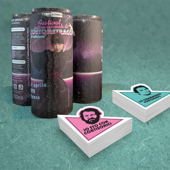 energy drink & stickers